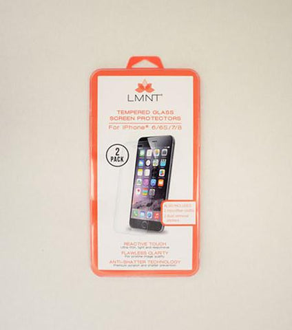 LMNT Tempered Glass Screen Protector For iPhone®6/6s/7/8 - 2 Pack