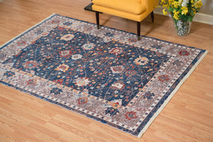 United Weavers  Monaco  Carlo  1950 11064  Navy  Area Rug