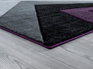 United Weavers  Bristol  Zine  2050 10082  Plum  Area Rug