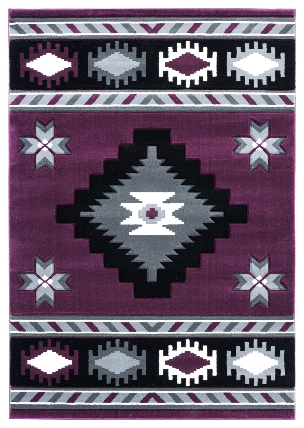 United Weavers  Bristol  Caliente  2050 10482  Plum  Area Rug