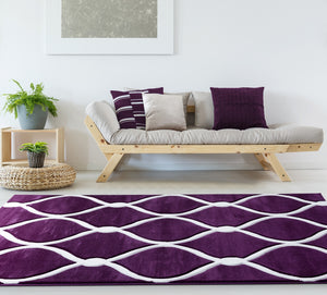 United Weavers  Bristol  Rodanthe  2050 11582  Plum  Area Rug