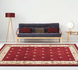 United Weavers  Bristol  Wington  2050 11634  Burgundy  Area Rug