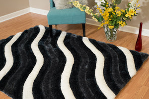 United Weavers  Finesse  Showers  2100 20470  Black  Area Rug