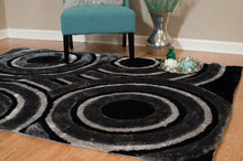 United Weavers  Finesse  Records   2100 20570  Black  Area Rug
