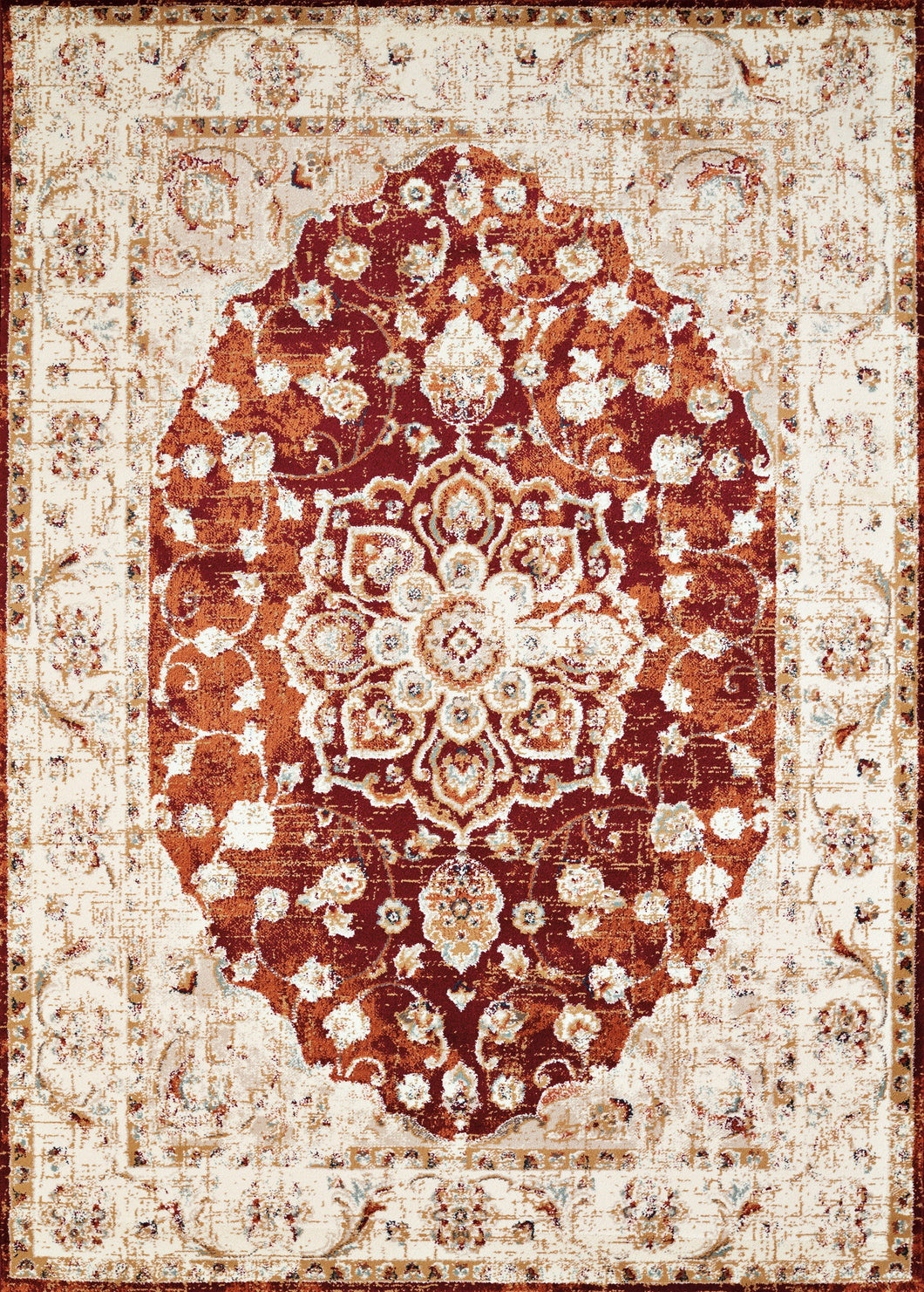 United Weavers  Bridges  Ponte Vecchio  3001 00436  Crimson  Area Rug