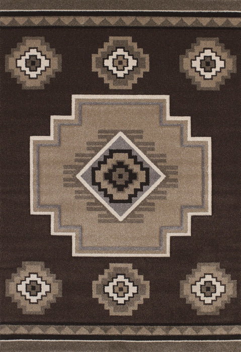 United Weavers  Townshend  Mountain  401 01250  Brown  Area Rug