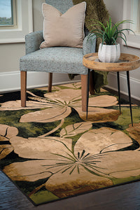 United Weavers  Contours  Floral Canvas  510 28845  Green  Area Rug