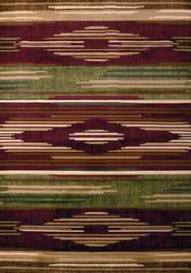 United Weavers  Contours  Native Chic  510 28634  Burgundy  Area Rug
