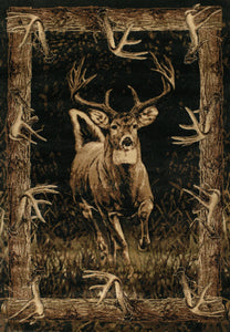 United Weavers  Designer Contours John Q.  Running Deer  Toffee  Area Rug