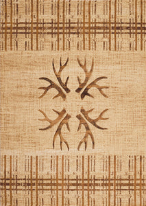 United Weavers  Designer Contours Made True  Antler's & Stripes  Toffee  Area Rug