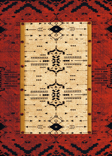 United Weavers  Designer Contours Made True  Arrow Pattern  Terracotta  Area Rug