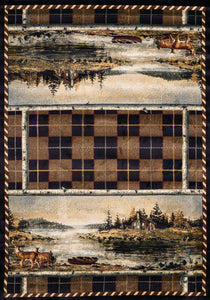 United Weavers  Hautman Genesis  Scenic Cabin  532 49717  Natural  Area Rug