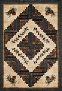 United Weavers  Donna Sharp Genesis  Cabin Rising  538 49917  Natural  Area Rug
