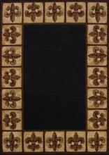 United Weavers  China Garden  Fleur de Lys  550 33670  Black  Area Rug