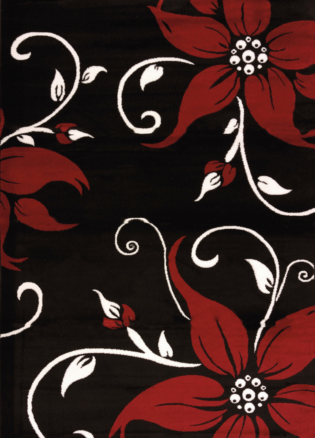United Weavers  Cristall  Daiquiri  580 10470  Black  Area Rug