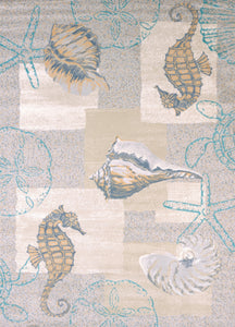 United Weavers  Modern Textures  Mystic Sea  595 40317  Natural  Area Rug