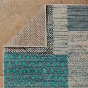 United Weavers  Modern Textures  Applique  595 40860  Blue  Area Rug