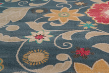 United Weavers  Modern Textures  Parasol  595 41360  Blue  Area Rug