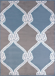 United Weavers  Modern Textures  Cordage  595 41960  Blue  Area Rug