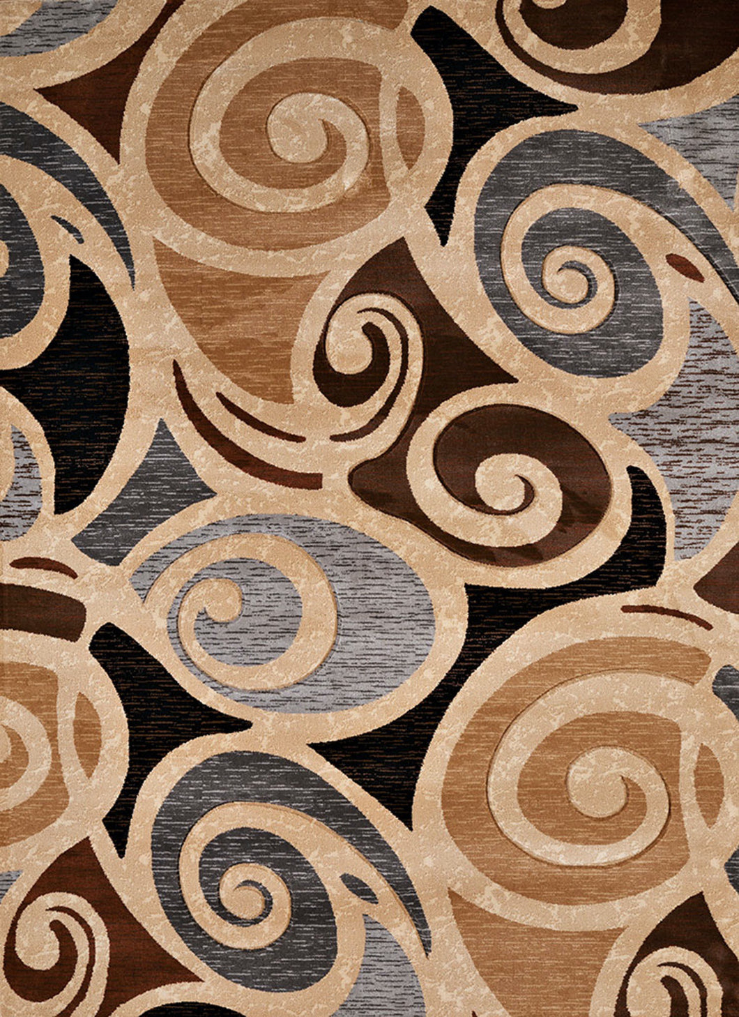 United Weavers  Contours  Frilly  702 33817  Natural  Area Rug