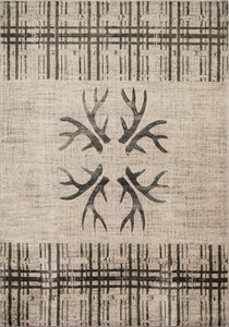 United Weavers  Designer Contours Made True  Antler's & Stripes  Grey  Area Rug