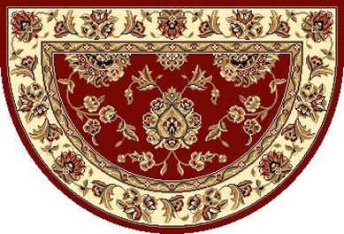 KAS Cambridge 7340 Red/Ivory  Area Rugs