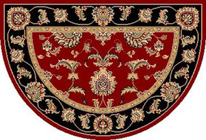 KAS Cambridge 7342 Red/Black  Area Rugs