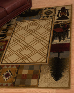 United Weavers  Affinity  Mountain Lake  750 05117  Natural  Area Rug