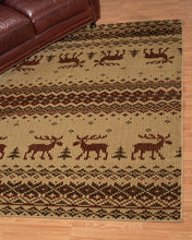 United Weavers  Affinity  Embroided Moose  750 05417  Natural  Area Rug
