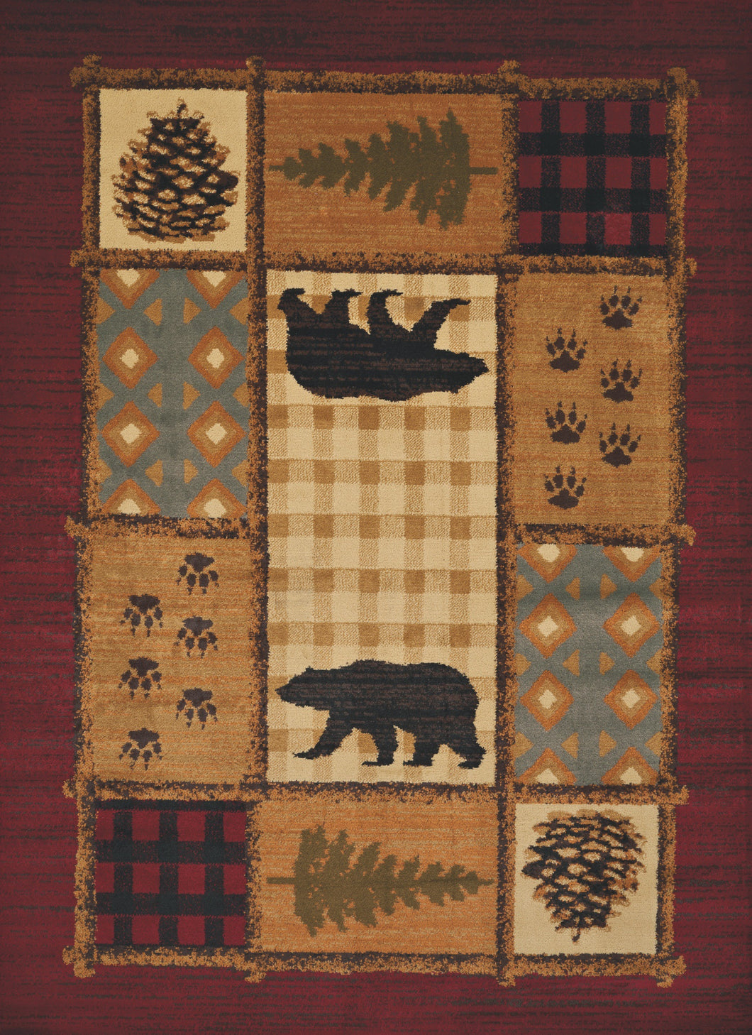 United Weavers  Affinity  Lodge Mosaic  750 05775  Multi  Area Rug