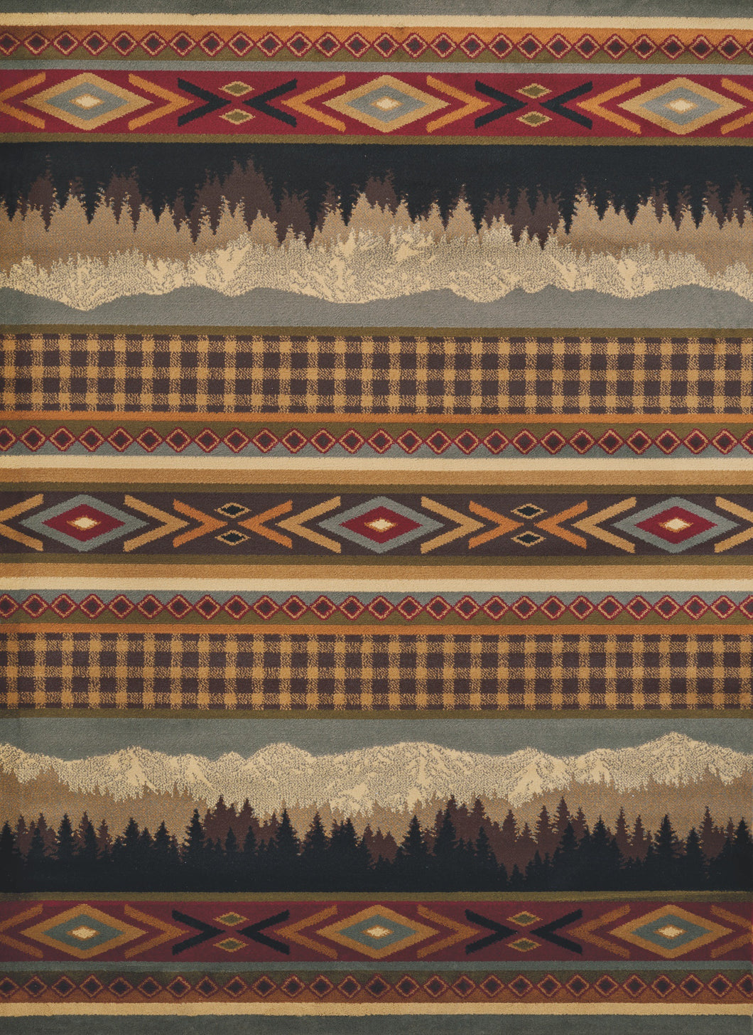 United Weavers  Affinity  Spring Mountain  750 06175  Multi  Area Rug