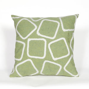Liora Manne Visions I 4087/16 Squares Lime Pillow by Trans Ocean