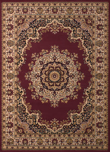 United Weavers  Dallas  Floral Kirman  851 10134  Burgundy  Area Rug