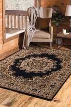 United Weavers  Dallas  Floral Kirman  851 10170  Black  Area Rug