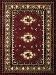 United Weavers  Dallas  Tres  851 10235  Burgundy  Area Rug