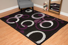 United Weavers  Dallas  Hip Hop  851 10482  Plum  Area Rug