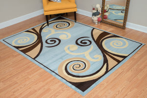United Weavers  Dallas  Billow  851 10560  Blue  Area Rug