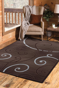 United Weavers  Dallas  Bangles  851 10951  Chocolate  Area Rug