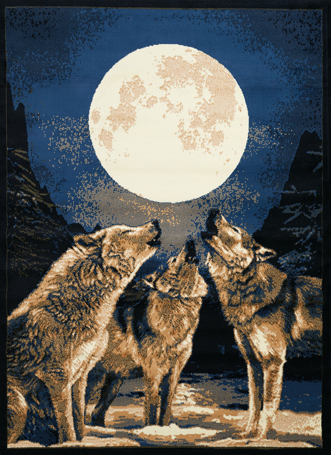 United Weavers  Legends  Howling Moon  910 02660  Multi  Area Rug