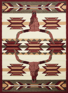 United Weavers  Legends  Bone Arrow  910 03730  Multi  Area Rug