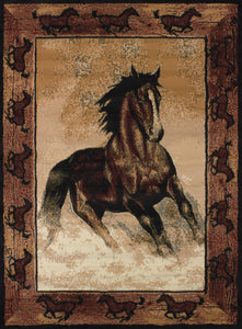 United Weavers  Legends  Stallion Border  910 06930  Multi  Area Rug