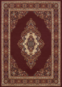 United Weavers  Manhattan  Cathedral  940 35334  Burgundy  Area Rug