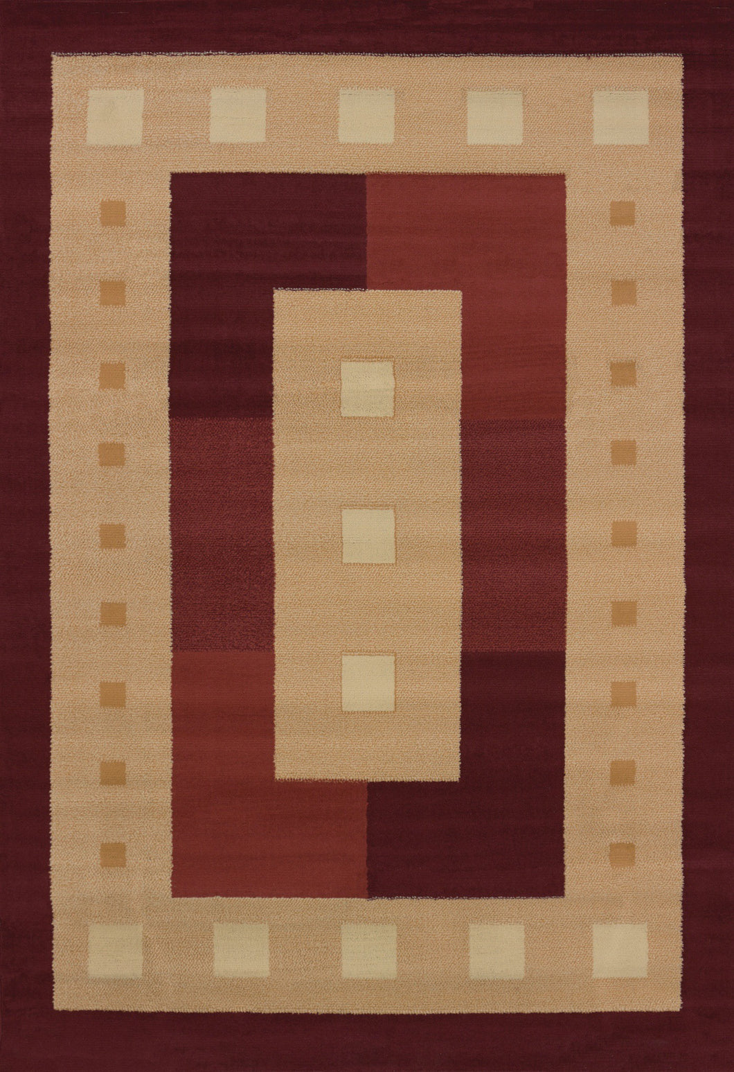 United Weavers  Manhattan  Time Square  940 36834  Burgundy  Area Rug