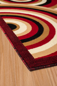 United Weavers  Café  Cappuccino  950 10330  Red  Area Rug