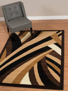 United Weavers  Café  Frappé  950 10550  Brown  Area Rug