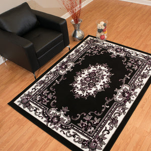 United Weavers  Café  Demitasse  950 10670  Black  Area Rug