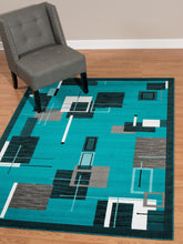 United Weavers  Café  Barista  950 10763  Aqua  Area Rug