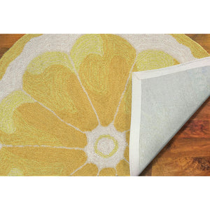 Liora Manne Frontporch 1556/09 Lemon Slice Yellow Area Rug by Trans Ocean
