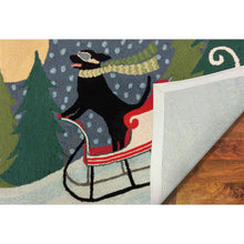 Liora Manne Frontporch 1564/44 Sledding Dog Multi Area Rug by Trans Ocean