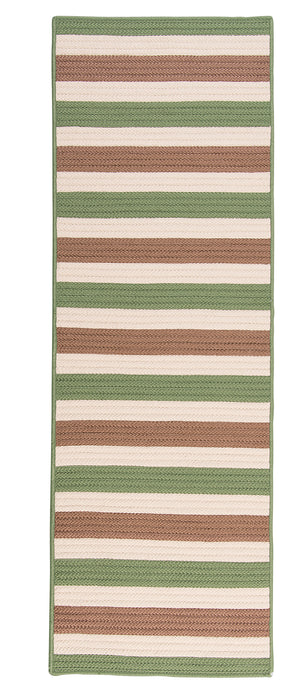 Colonial Mills Bayamo Runner  BY69 Green  Area Rug